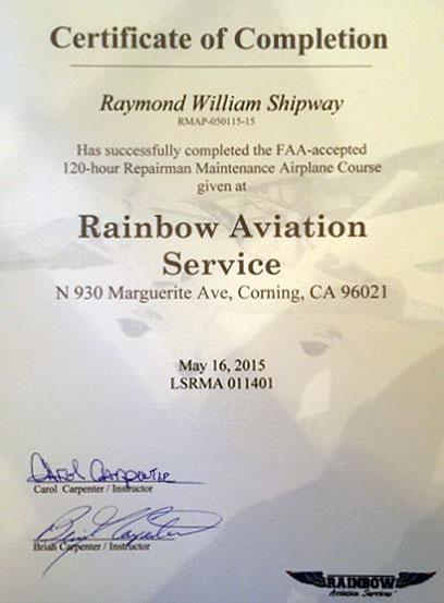 Light Sport Repairman, Maintenance – Airplane – on both S-LSA and E ...